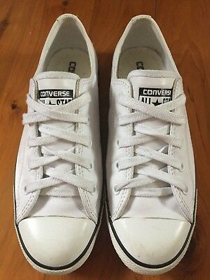 CONVERSE low cut white leather US 7