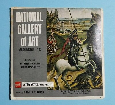 View-Master NATIONAL GALLERY OF ART Washington DC - A791 -3 Reel Set - Version A