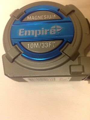Empire 10M/33Ft Magnesium Tape Measure New