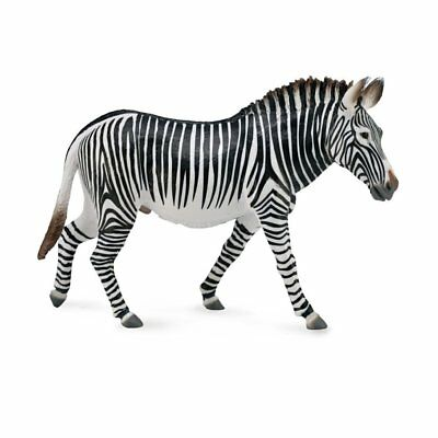 CollectA Wildlife Grevys Zebra Toy Figure - Authentic Hand Painted Model