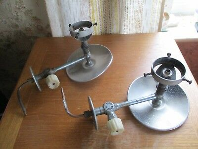 vintage edwardian gas light fittings/crome