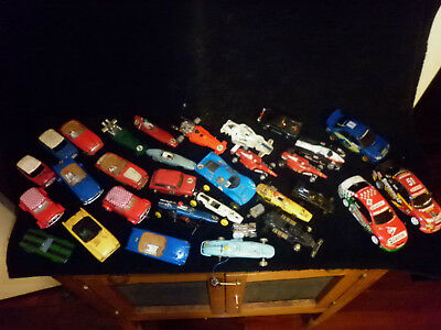 Vintage Job Lot Of 30+ Scalextric/etc Slot Cars For Resto Or Parts.