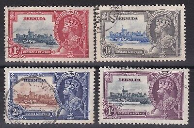 Bermuda 1935 Silver Jubilee Set Sg 94-97 With Bird By Turret Fine Used Set