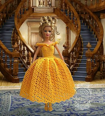 Barbie Doll Clothes - Beautiful Princess Gown Dress Outfit with shoes