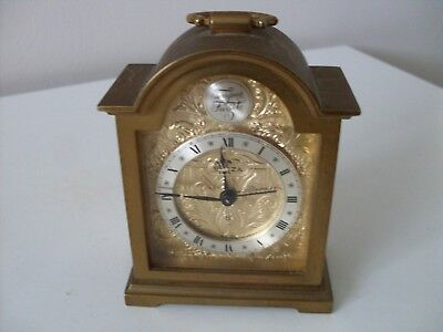 "Beautiful Small Wind Up ""swiza  Swiss Alarm Clock,superb Condition & Working"