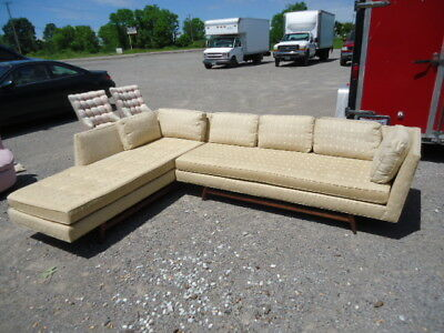 Edward Wormley, Dunbar ,knowland Style 2 Pc. Chase, Sectional, Sofa By Armstrong