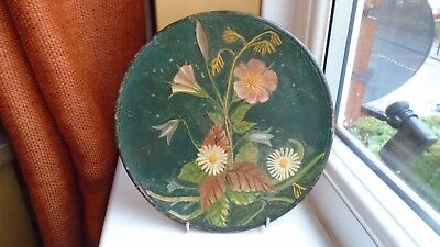 Antique Longpark Terracotta Works Handpainted Wall Plaque / Charger - Signed