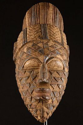 The Exotic Old Igbo Mask Nigeria Africa Fes- 0182
