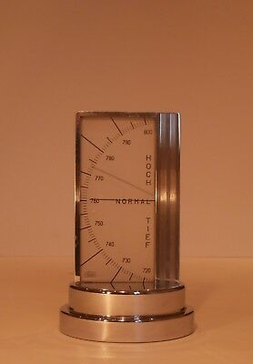 Art Deco Chrome Zeiss Ikon Desk Barometer