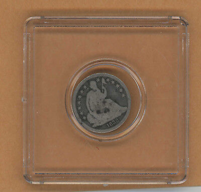 1838 Seated Liberty Dime Partial Drapery