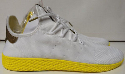 177689627a583 Adidas PW Tennis HU Size 13 Pharrell Williams Human Race White Yellow BY2674