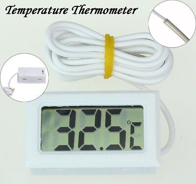 Mini Digital LCD High Temperature Thermometer Indoor/Outdoor w/ Probe Celsius US