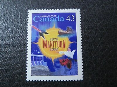 """CANADA STAMPS---#1562  MINT .43c  1995  """"MANITOBA 1870-1995"""" SINGLE"""