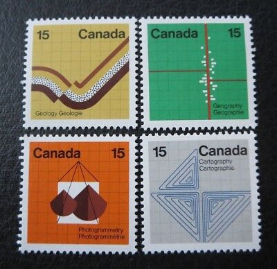 """CANADA STAMPS---#582-5  MINT 1972  .15c """"EARTH SCIENCES"""" SINGLES SET"""