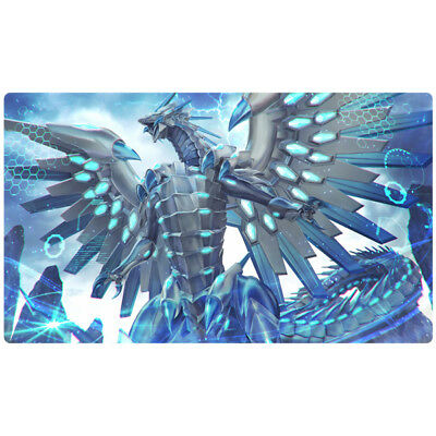 FREE SHIPPING Custom Yugioh Playmat Blue-Eyes Chaos MAX Dragon Blue Eyes Playmat