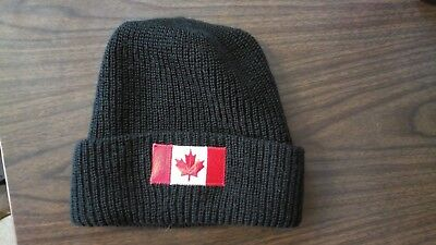 Canadian Forces Medical Technician Toque Winter Knit Cap Wool & Canadian Flag