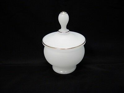 Antique Bristol Glass Ground Bottom Frosted White Covered Dish Decorative Candy