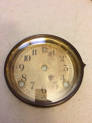 Antique Sessions Adamantine Mantle Clock Dial And Bezel With Glass