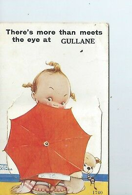 Printed pullout postcard of Mabel Lucie Attwell from Gullane Scotland   no 1740