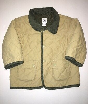 Baby Gap Boys/Girls Coat 18-24 mo Brown Jacket Quilted Warm Everyday Button