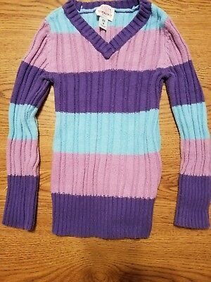 Children's Place Girl's Size 4 Multi Striped Sweater Keep Her Warm!