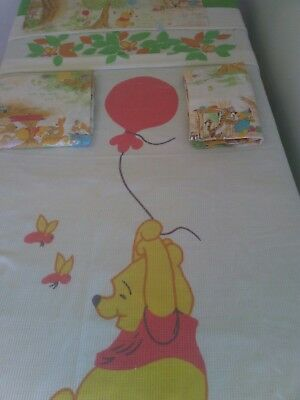 Vintage Disney Winnie the Pooh Bedspread/Sheet Set Awesome  SEARS