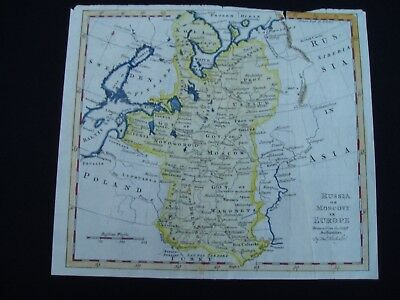 1764c Kitchin Map Russia Lithuania Estonia Latvia 253 Yr Old Antique Genuine