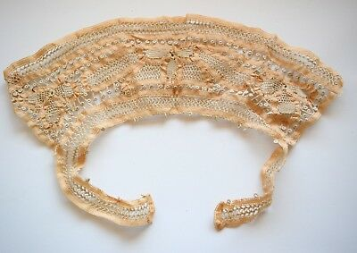 Antique  French Lace Collar Bib Ivory Color Very Old