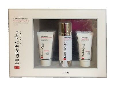 Gift Set of3 Elizabeth Arden Visible Difference Skin Serum Lotion Exfoliant 30ml