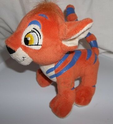 "Neopets Orange Kougra Cat Plush 6"" tall 7""  NO code  see note about leg"
