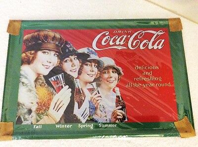"COCA COLA ""Coke"" Girls Tin Metal Sign NEW Condition Perfect Man Cave Wall Hanger"