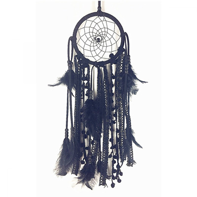 Dream catcher Handmade Traditional Feather Decoration Ornament Craft Gift Black