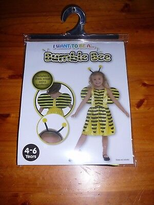 NEW - Bumble Bee Costume - 4 - 6 Years