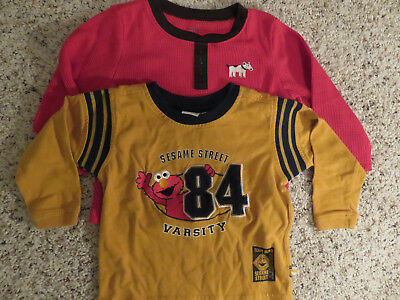Boys ,Two Shirts Sesame Street and Carters, Size 2T