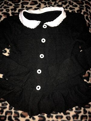 Persnickety Navy And Lace Sweater Girls Size 10 holiday