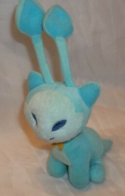 "Neopets Blue Aisha Plush Alien Cat Plushie  9"" tall"
