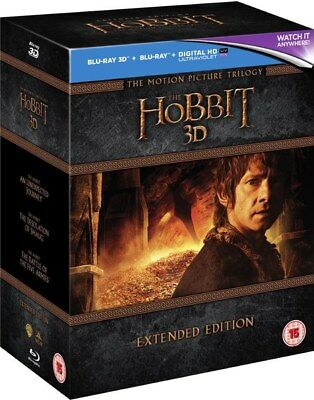The Hobbit Trilogy Extended Edition Blu-ray 3D+2D Boxset New Region Free A,B,C!