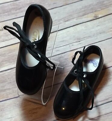 Award Girls 7.5M Black Patent Leather Dance Tap Shoes