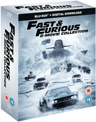 Fast and the Furious 8 Film Collection Blu-ray 1-8 Boxset New Region Free A,B,C!