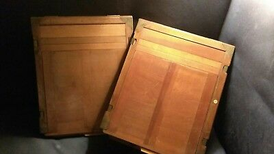 Vintage wooden 11x14 film holders sheet film Glass plate ?? 2 pieces