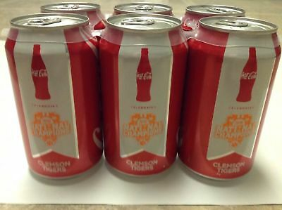 6 - Clemson Coca Cola Coke National Championship 2016 Cans (bottle bottles)