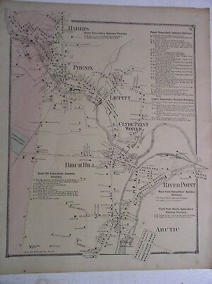 Warwick Coventry Map 1870 F.W. Beers Atlas