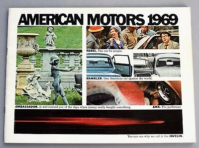 Original 1969 American Motors Full Line Sales Brochure ~ 48 Pages ~ 69Amc