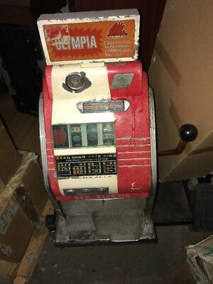 "Sega ""New Olympia"" ""Olympia"" Antique Collectible 1960's Slot Machine Untested"
