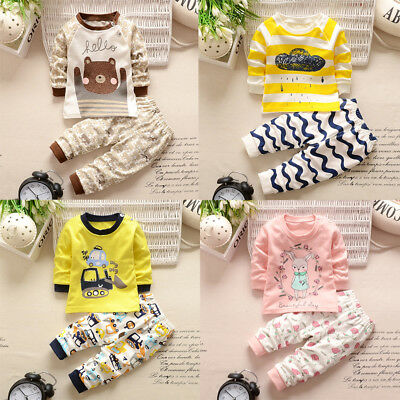 Christmas Toddler Baby Boys T-Shirt Tops Hoodie Pants Outfits 2Pcs Set Clothes U