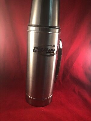 Vintage Hot Cold Champ Stainless Steel Thermos - VERY NICE SHAPE!