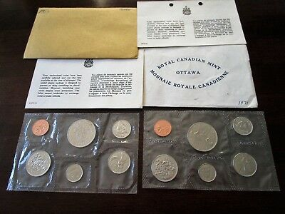 1969 & 1971 Canada Mint Sets Proof Like COINS with COA Cards PL Dollars - Cents