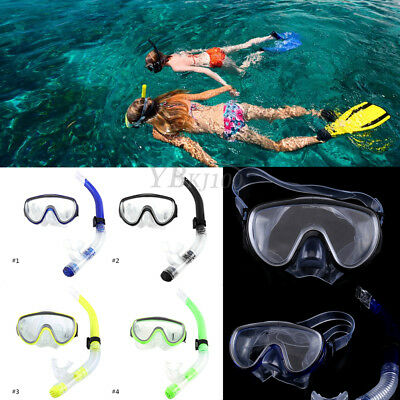 Adult PVC Swimming Scuba Dive Diving Goggles Mask and Snorkel Set Unisex SD