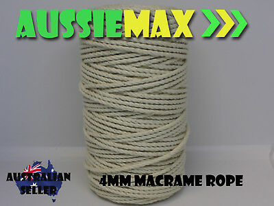 4mm Macrame Rope 100% Natural Cotton Cord 110 Meters