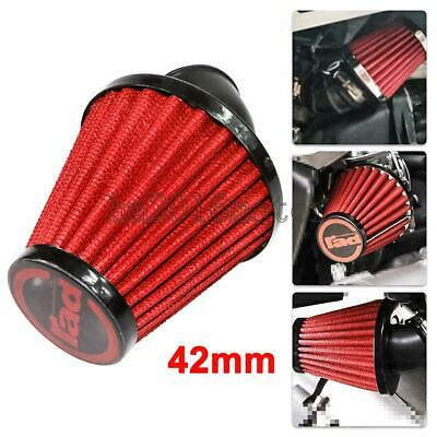 Motorcycle 42MM Red Air Intake Filter Pod 45 Degree Bend For Scooter ATV New